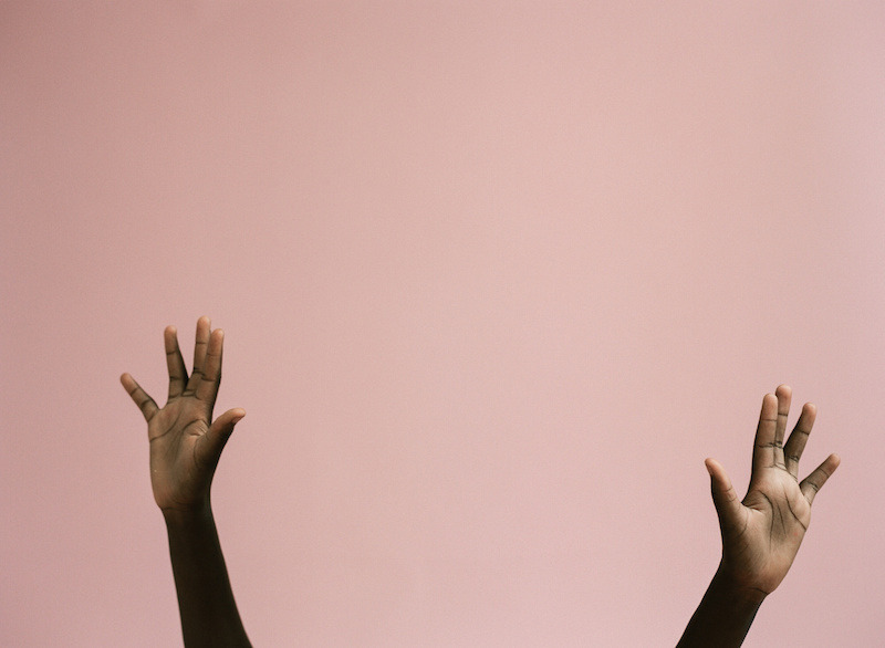 pink, hands, and tumblr image