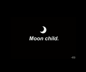 black, moon, and white image