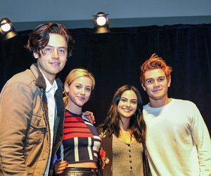 kj apa, madelaine petsch, and cole sprouse image