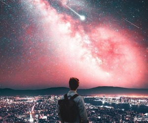 sky, city, and stars image
