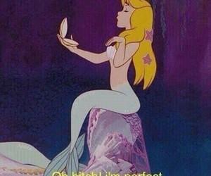 mermaid, cartoon, and perfect image