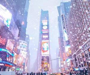 new york, winter, and city image