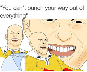 funny and one punch man image