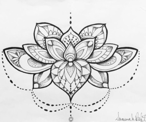 drawing, painting, and tattoo image