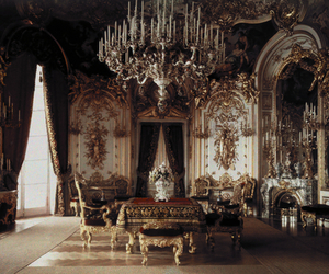 room, castle, and chandelier image