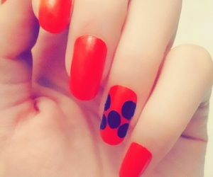 black, red, and cute image