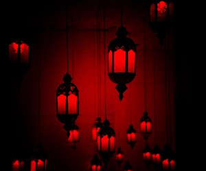 light, lantern, and red image