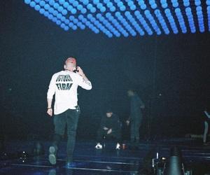 Drake, blue lights, and rapper image
