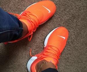 orange, shoes, and nike image