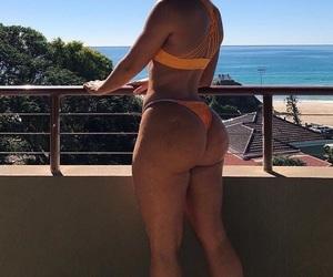bikini, thick, and travel image