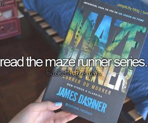 book, maze runner, and the maze runner image