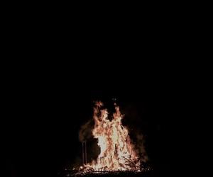 bonfire, dark, and fire image