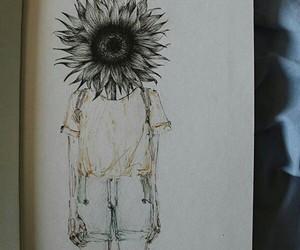 arte, dibujos, and flores image
