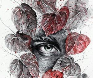 arte, ilustracion, and mirada image