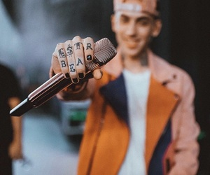 fan, microphone, and singer image