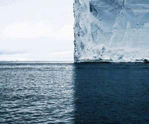 ice, blue, and sea image