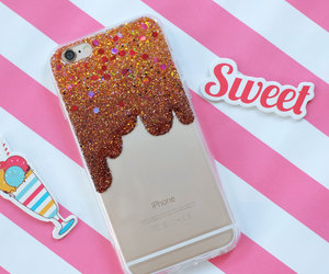 etsy, iphone cover, and glitter case image