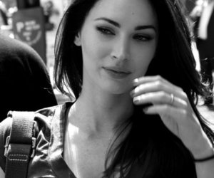 megan fox, beautiful, and black and white image