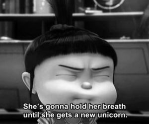 quotes, unicorn, and despicable me image