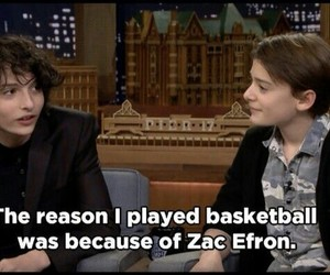 zac efron, stranger things, and finn wolfhard image