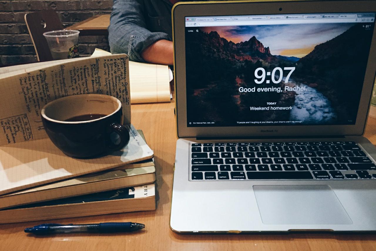 study, books, and coffee image