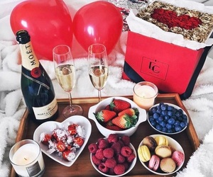 food, fruit, and rose image