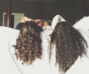 basic, best friends, and curly image