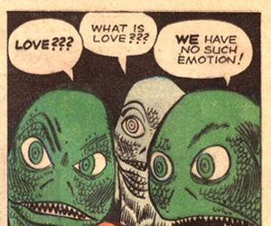 love, alien, and comic image