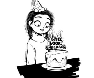 underage, art, and birthday image