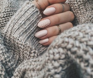 nails, Nude, and winter image