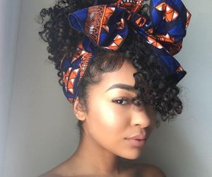 curls, style, and black girl image