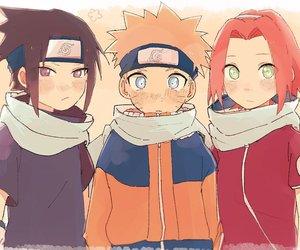 naruto, sasuke uchiha, and haruno sakura image