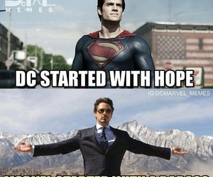 Action, DC, and iron man image