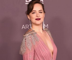pink, dakotajohnson, and woman image