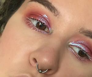 eye makeup, lashes, and brows image