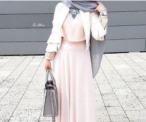 grey, hijab, and rose image