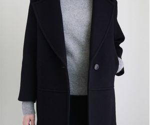 fashion, black, and coat image