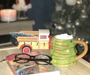 book, christmas, and lights image