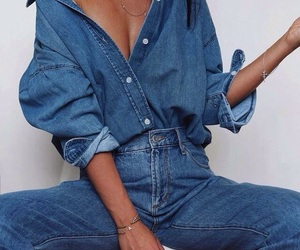 aesthetic, denim, and girls image