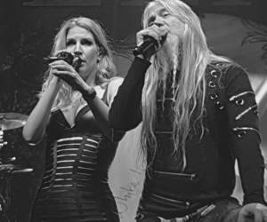 black and white, symphonic metal, and delain image
