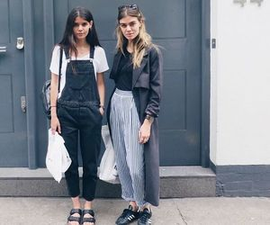 fashion, outfit, and dungaree image