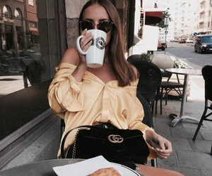 fashion, gucci, and coffee image