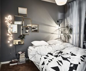 bedroom, cosy, and grey image