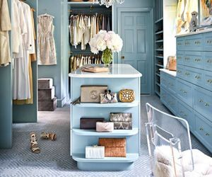 interior, blue, and closet image
