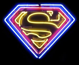 neon and superman image