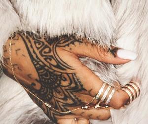 tattoo, rihanna, and nails image