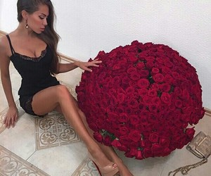 amazing, big boobs, and roses image