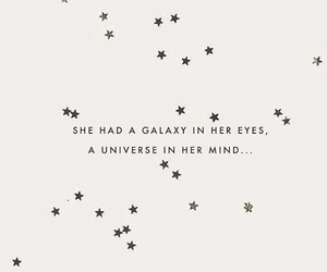 quote, eyes, and galaxy image