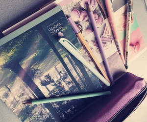 pens, school, and study image