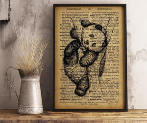 baby panda, etsy, and rustic decor image